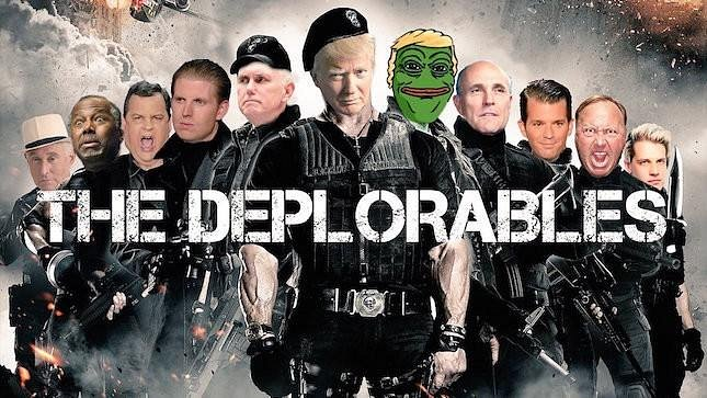 """The Deplorables"" prominent conservatives and Pepe the Frog"