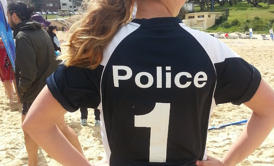 Beach soccer unites police and students